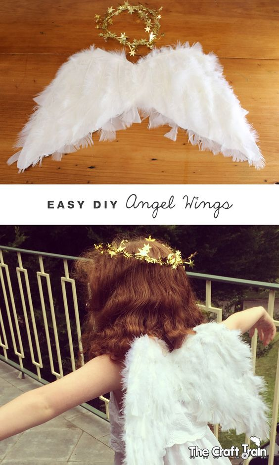 Easy DIY Angel Wings.
