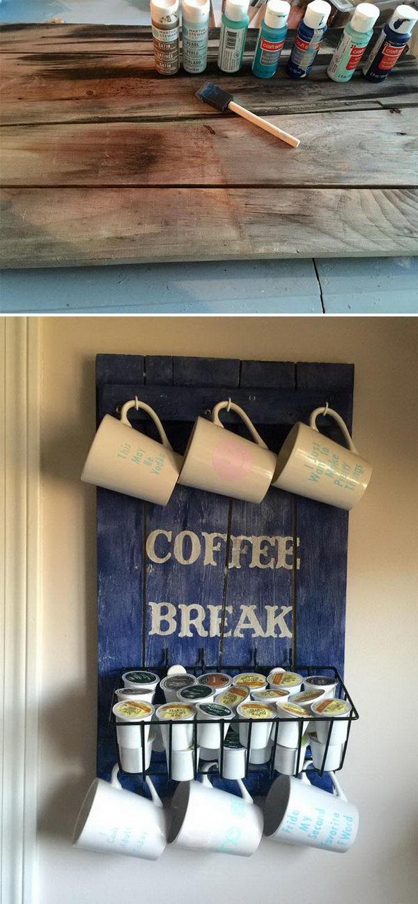 DIY Pallet Coffee Station.