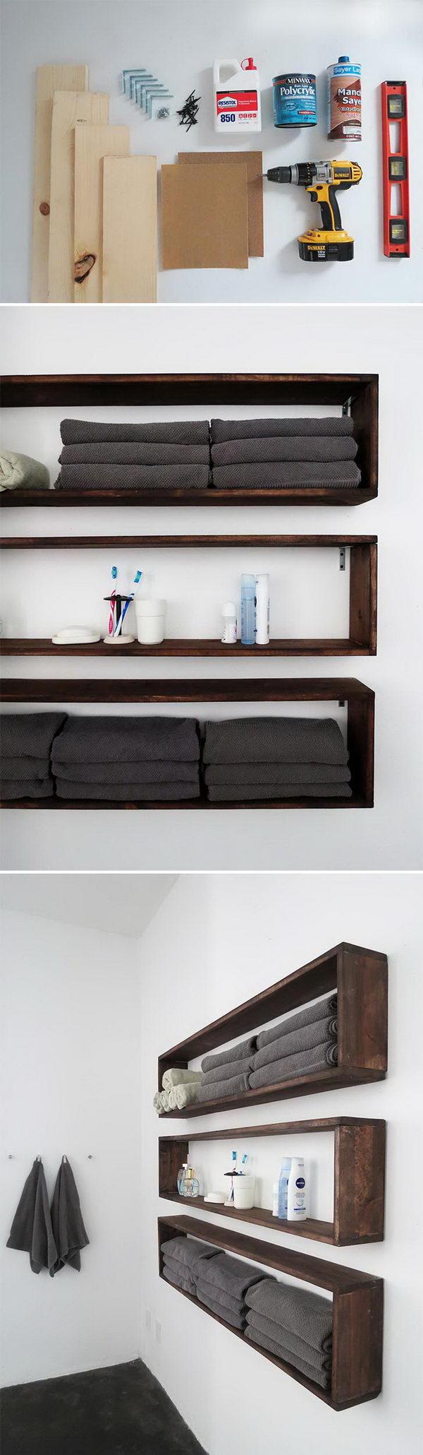 Easy DIY Shelves.