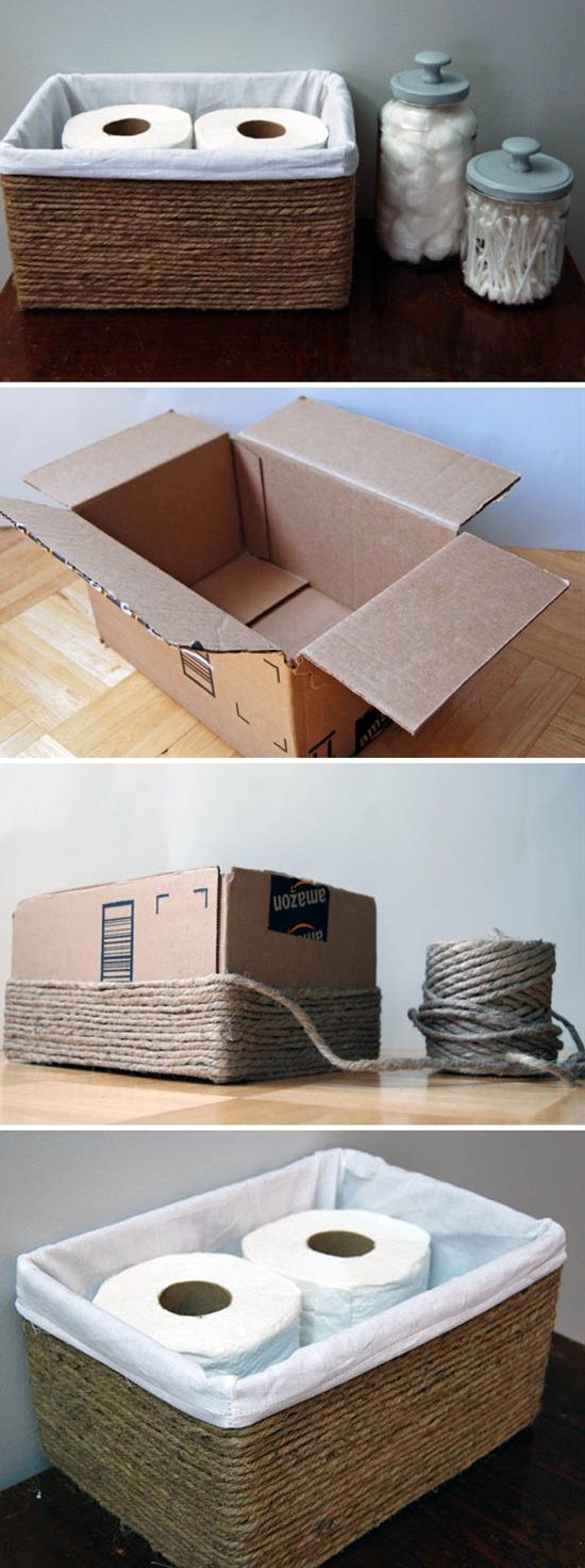 Turn Boxes Into Baskets.