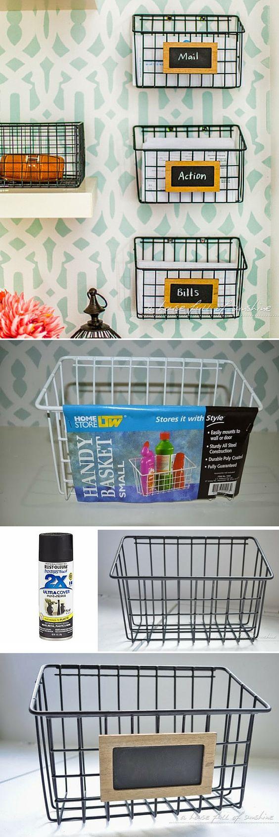 Wire Mail Baskets.