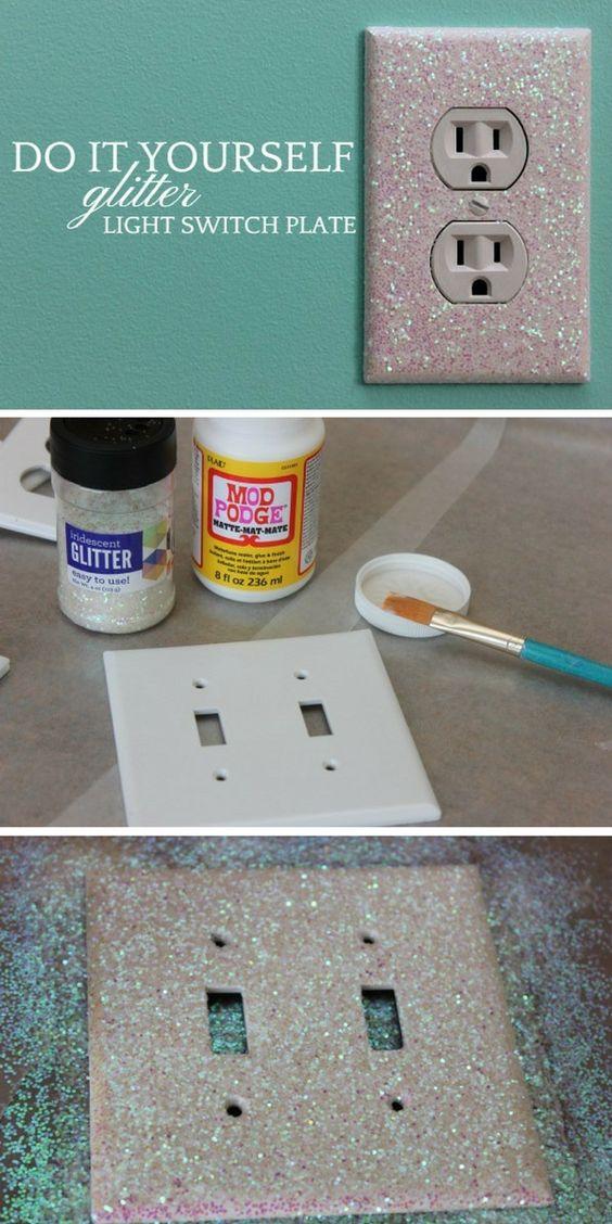 Glitter Light Switch Plate.