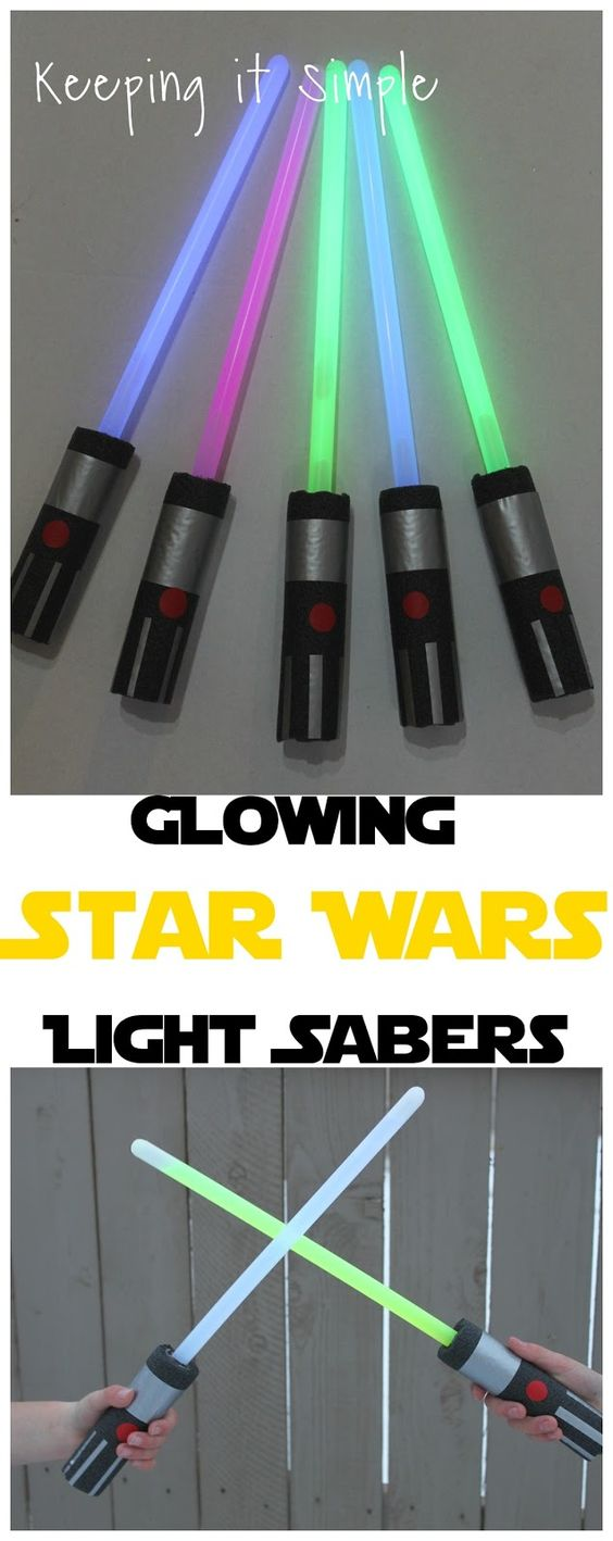 DIY Glowing Star Wars Light Sabers.