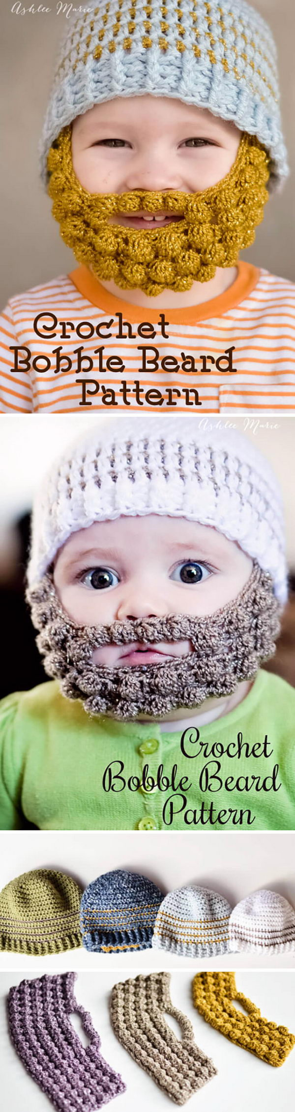 Crochet Bobble Beard.