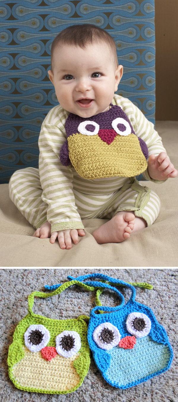 Owl Baby Bib.
