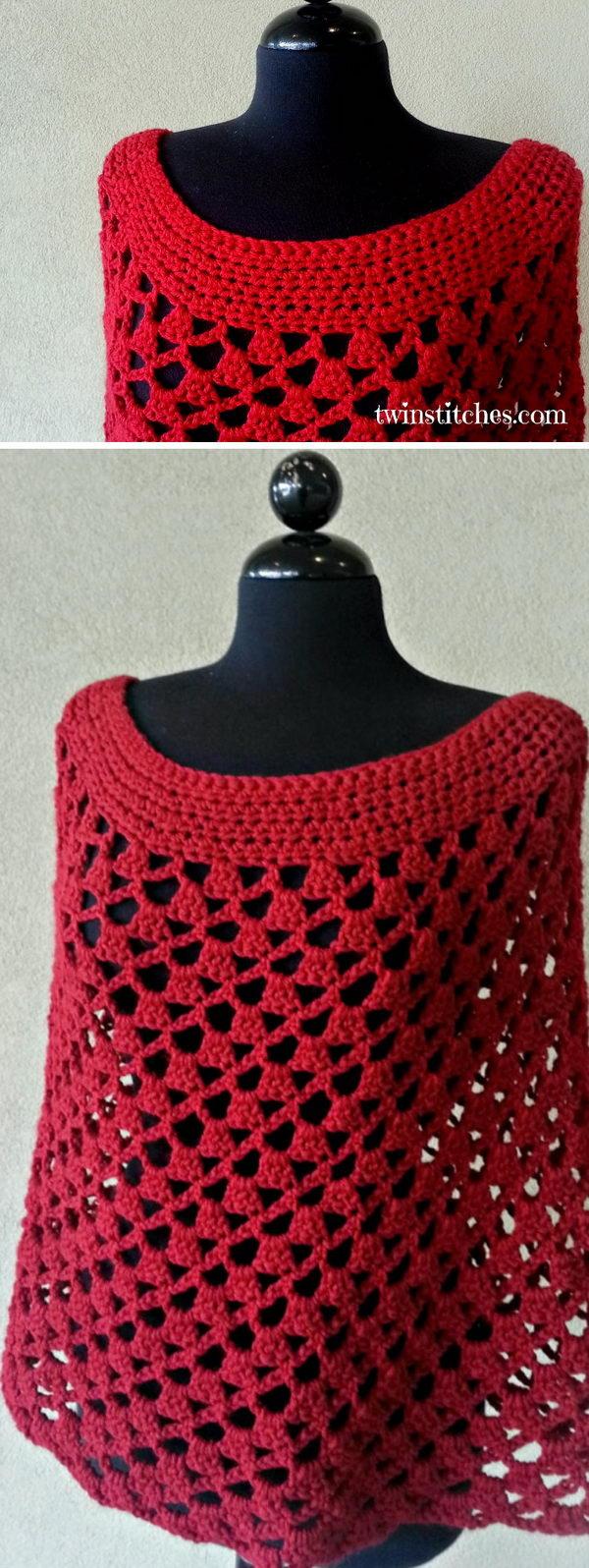 Crochet Scarlett Spiral Poncho.
