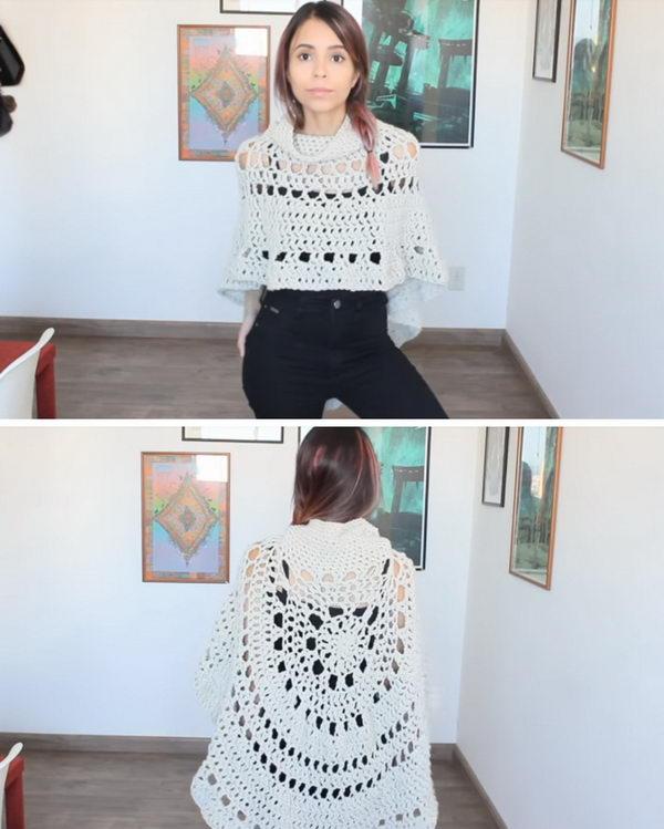 Crochet Boho Poncho.