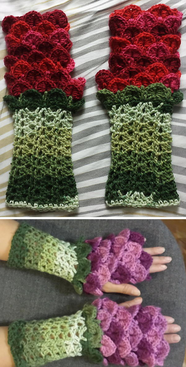 Flower Dragon Gauntlets.