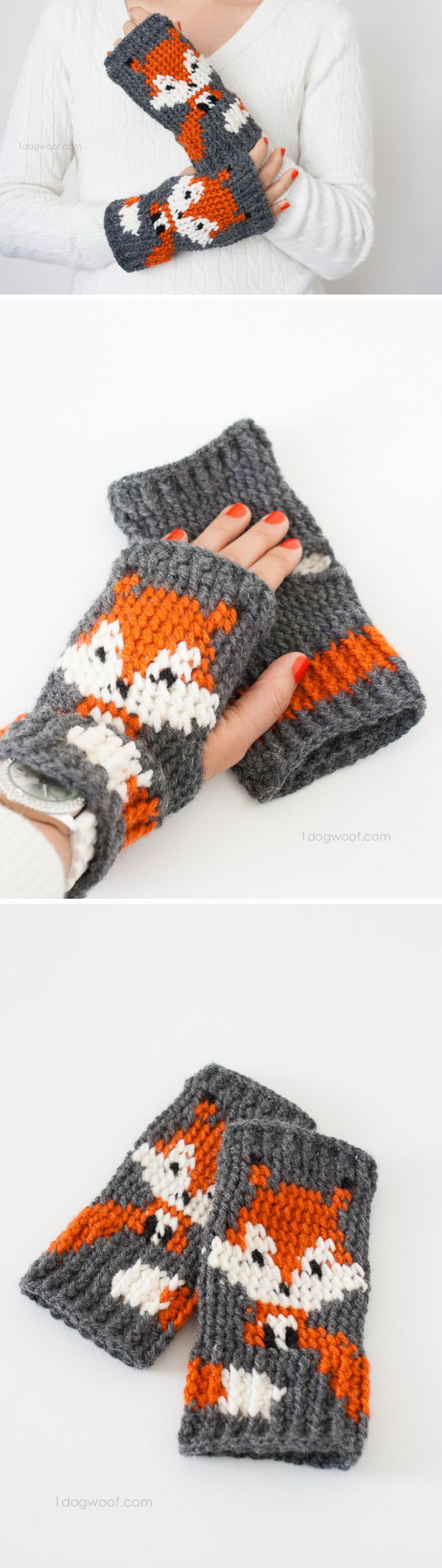 Foxy Fingerless Gloves.