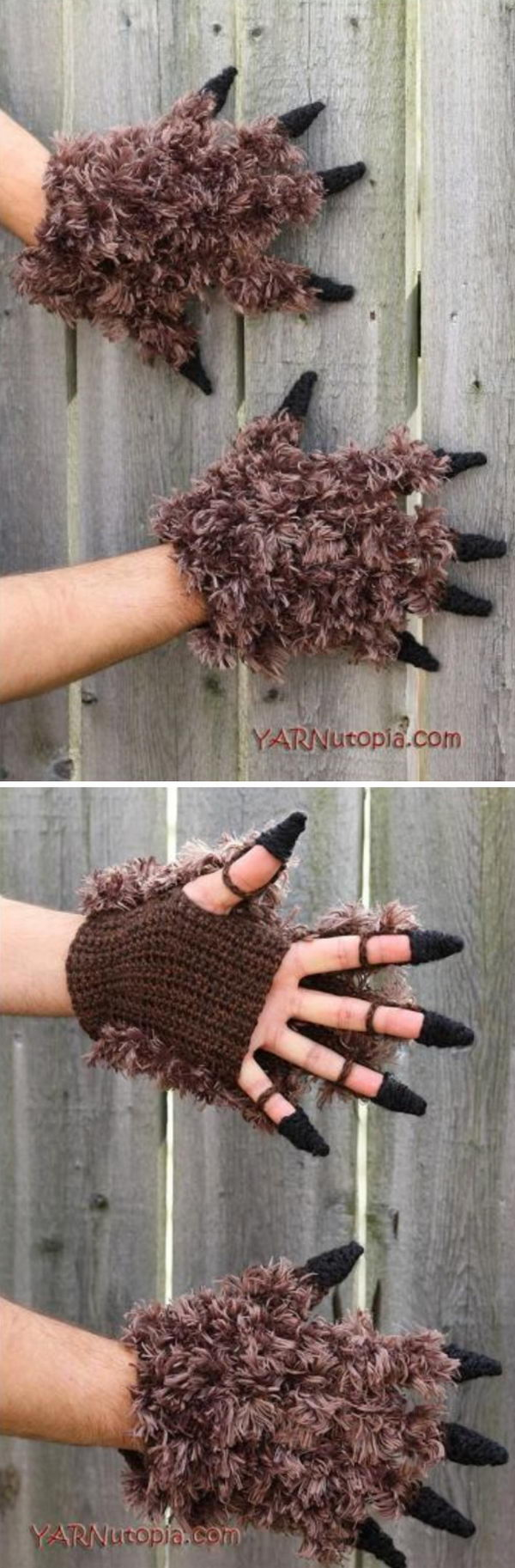 Beast Costume Gloves.