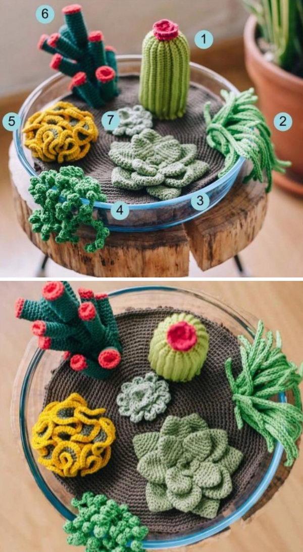 Crochet Succulents.