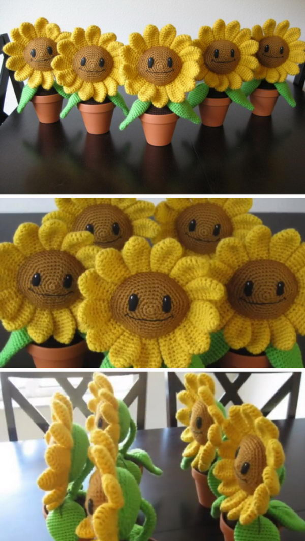 Amigurumi Happy Sunflower.