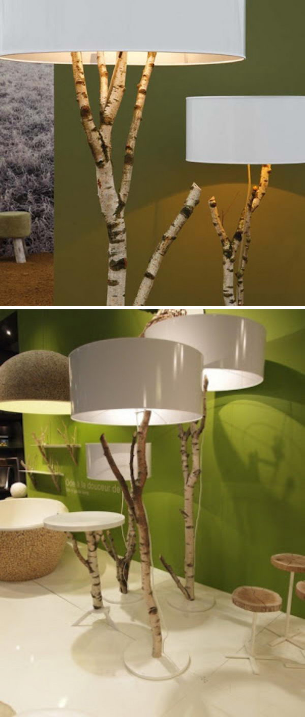 Birch Tree Branch Lamps.
