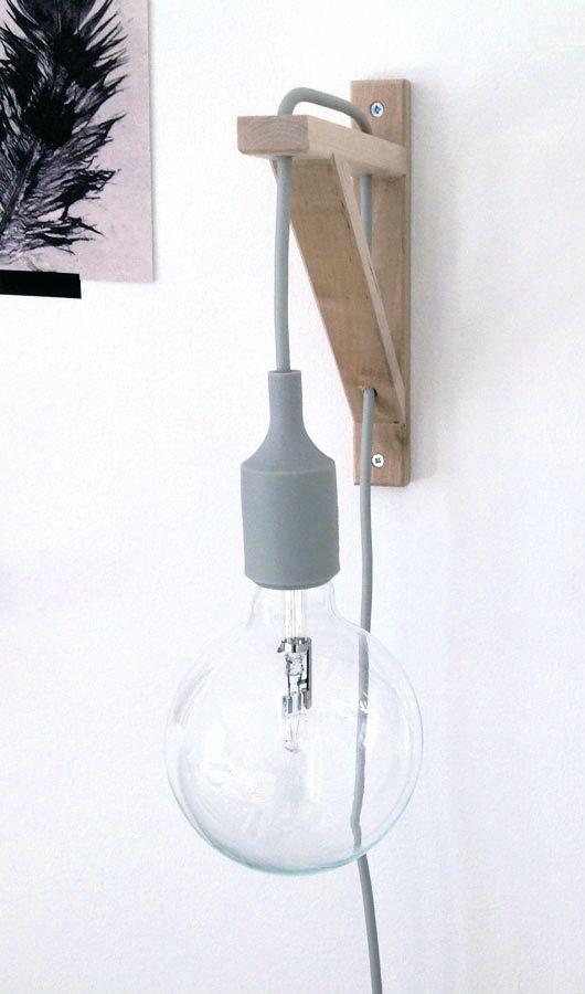 Shelf Bracket Lamp IKEA Hack.