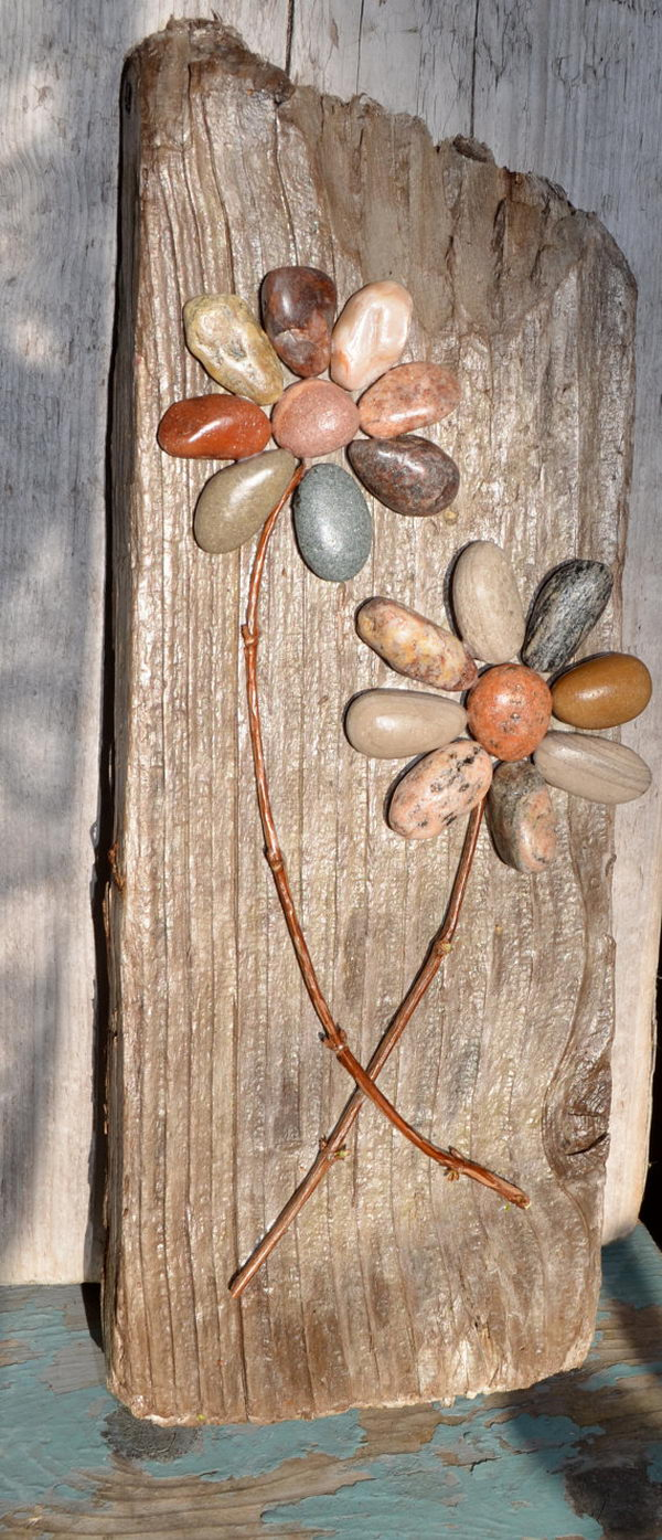 Rustic Pebble Art.