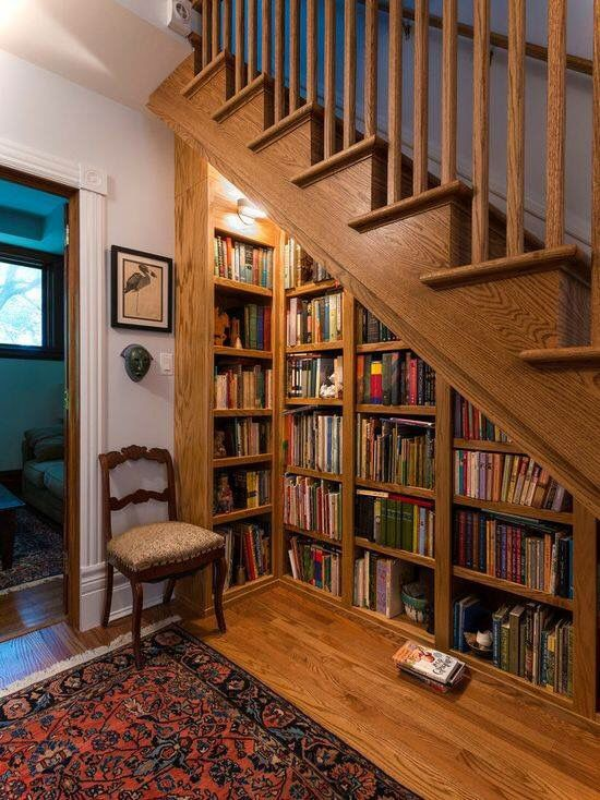Under Stairs Bookcases.