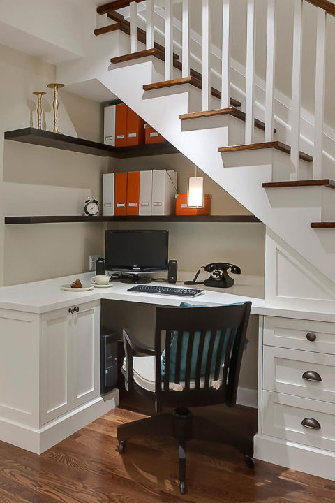 Home Office Under Stairs.