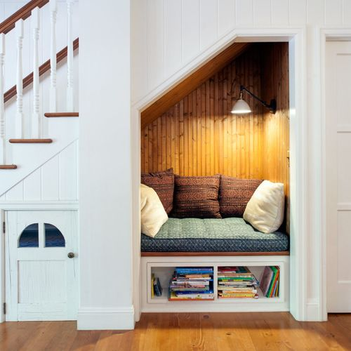Reading Nook Under The Staircase.