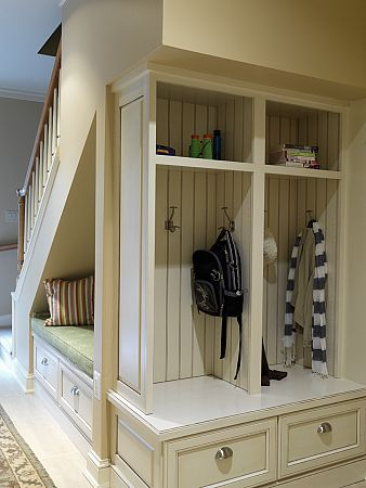 Mudroom Storage.
