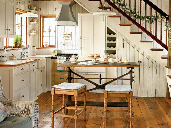 Kitchen Under The Stairs.