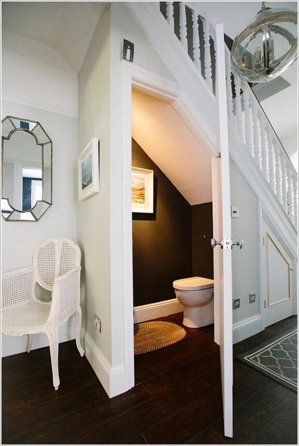 Bath Design Under Stairs.