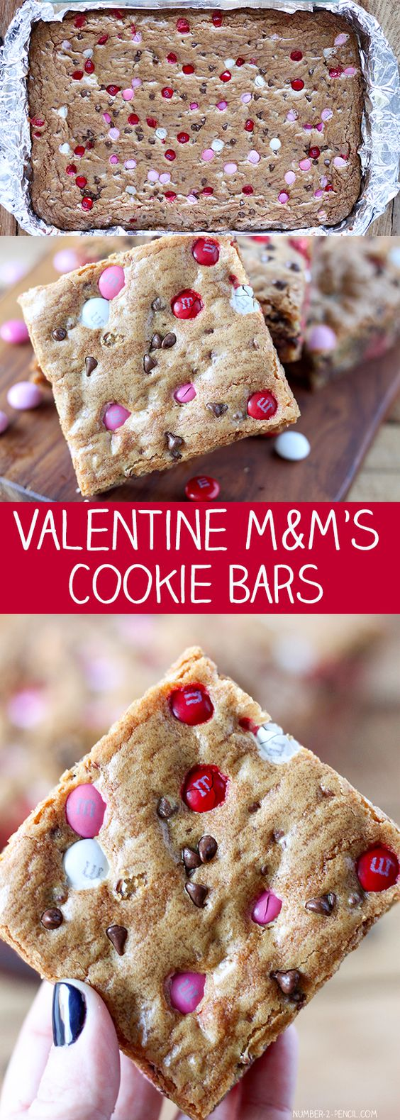 M&M'S Valentine's Day Cookie Bars.