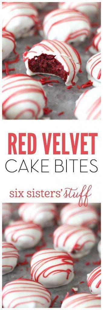 Red Velvet Cake Bites.