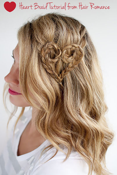 Heart Braid Hairstyle.