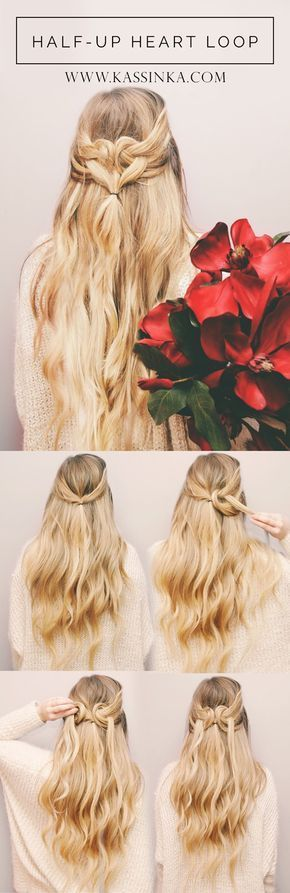 Heart Shape Hair Tutorial.