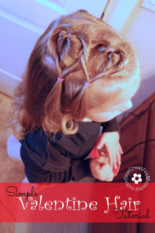 Easy Valentine Hair Style Tutorial.