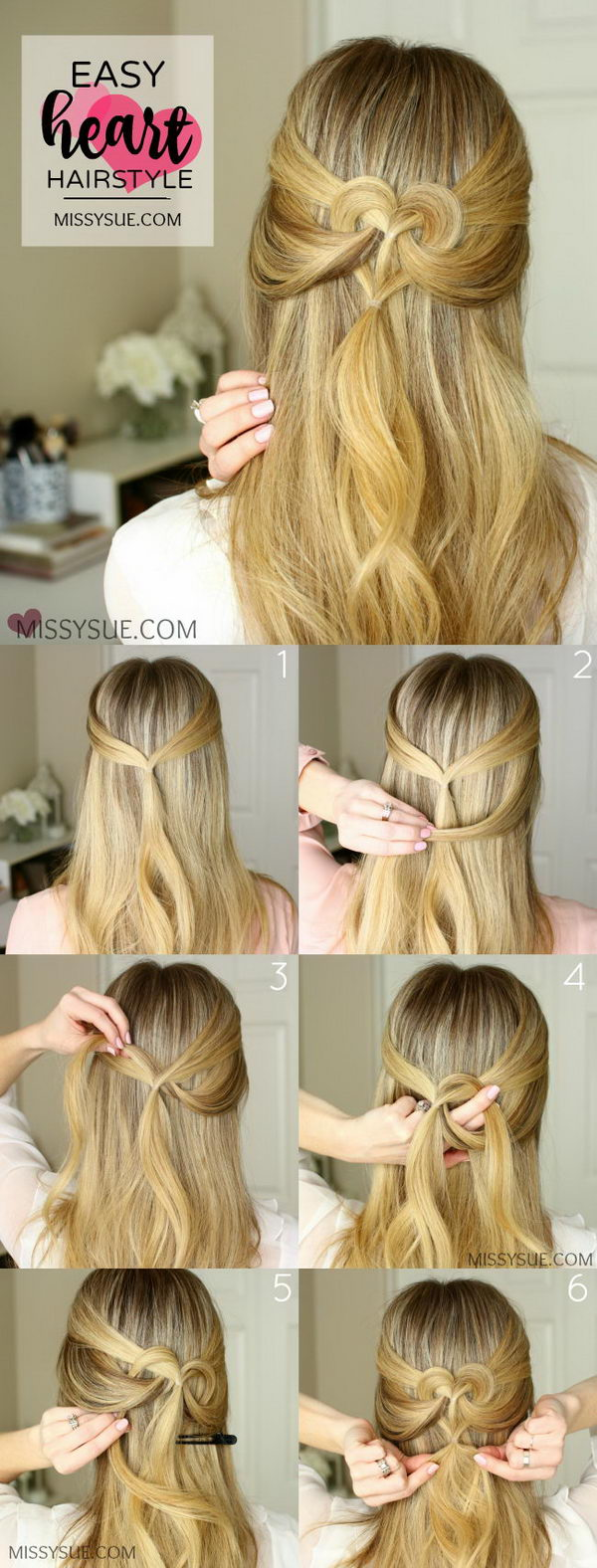 Heart Hairstyles 2 Ways.