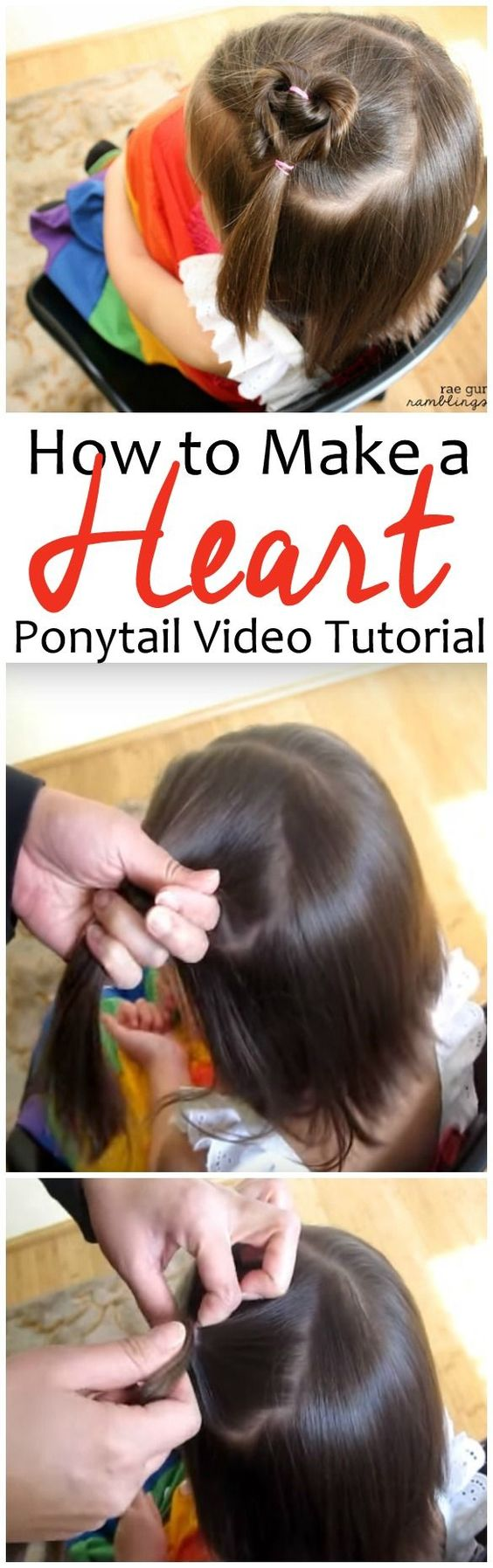 Super Fast Heart Ponytail.