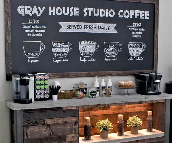 17 coffee station diy ideas tutorials thumb