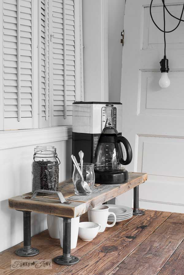 Industrial Coffee Station Shelf.