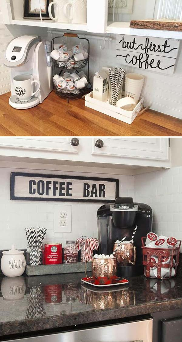 15 Cool Diy Coffee Station Ideas