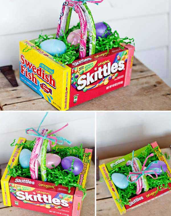 Make a fun and unique edible Easter basket for your children.