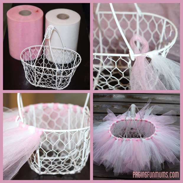 DIY a lovely Tutu Easter basket.