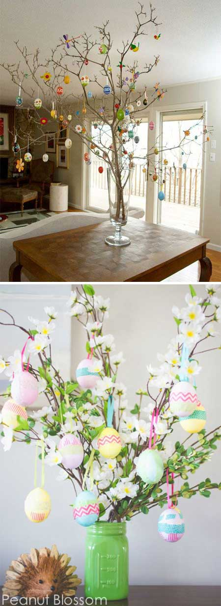 Make an adorable egg tree for your Easter table.