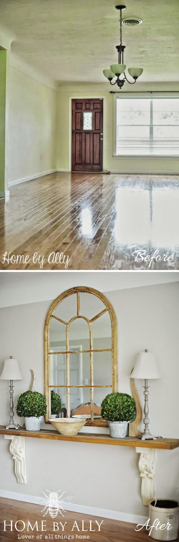 DIY Entryway Table Using Corbels or Architectural Salvage.