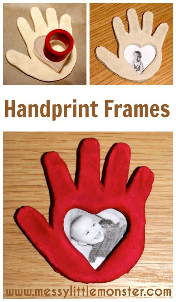 Salt Dough Handprint Frame
