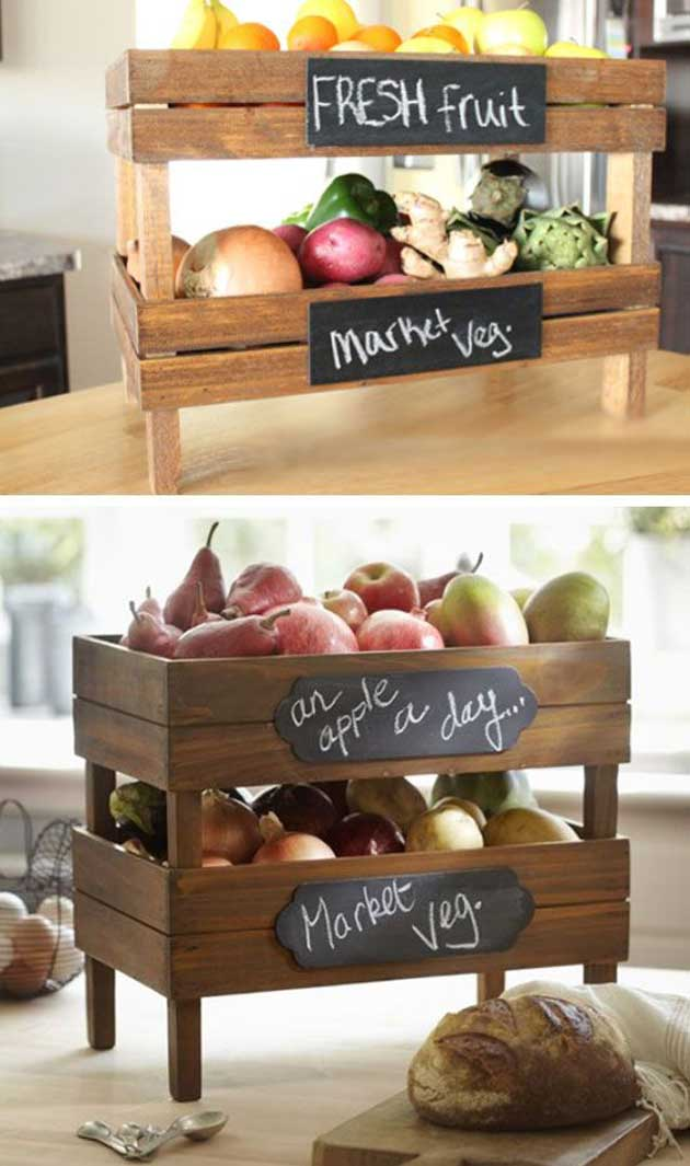 DIY Stackable Produce Crate.
