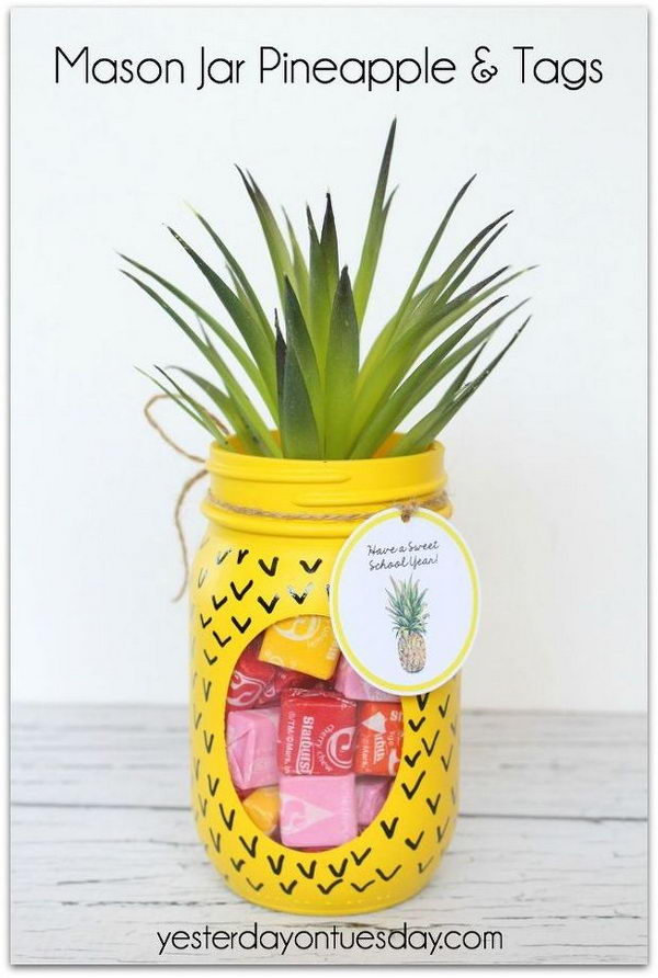 Pineapple Mason Jar.