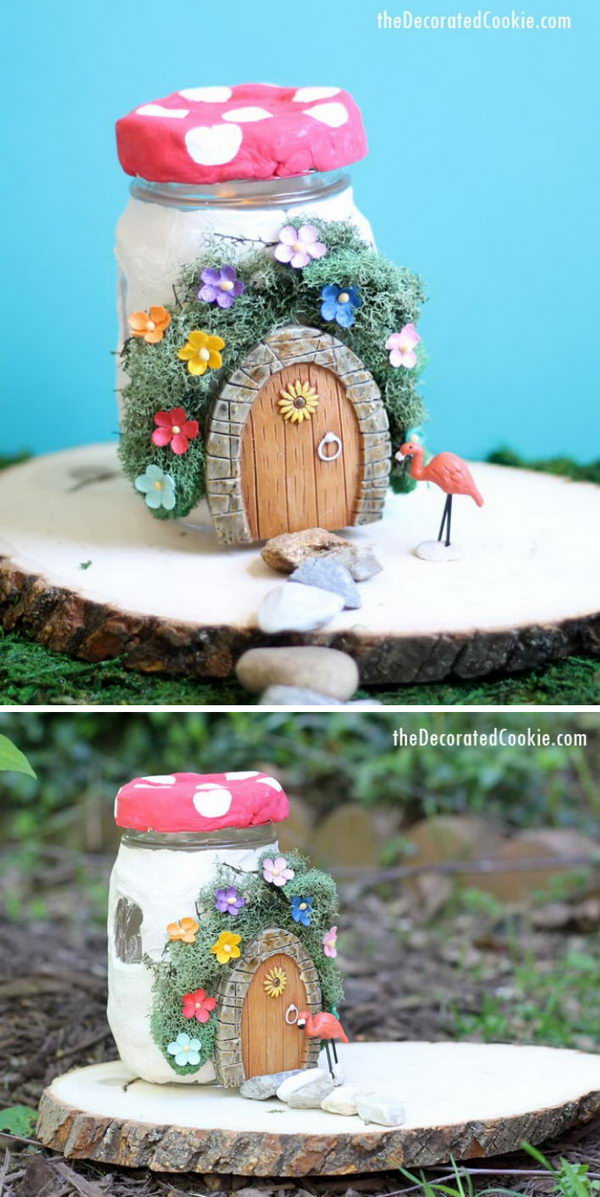 DIY Mason Jar Fairy House.