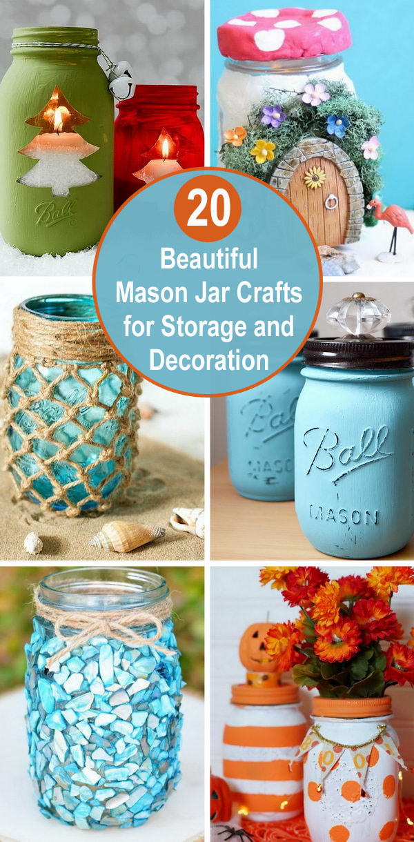 20 Beautiful Mason Jar Crafts For Storage And Decoration