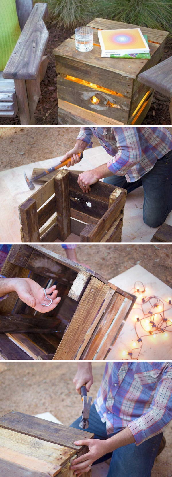 Recycled Pallet Lights.
