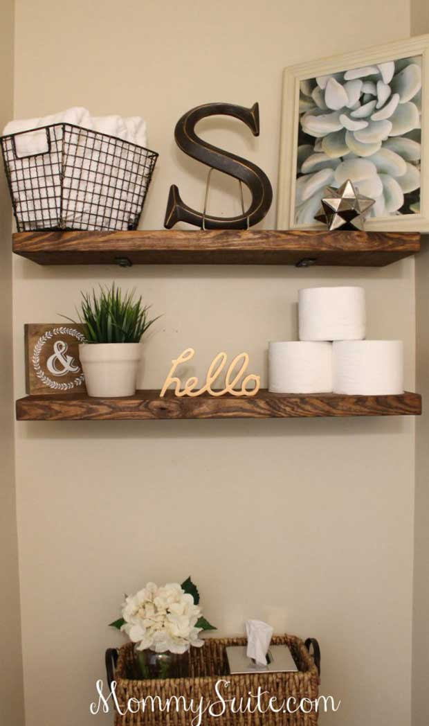 DIY Faux Floating Shelves.