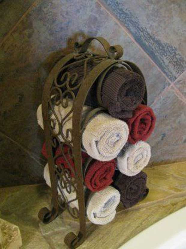 Wine Rack Towel Rack.