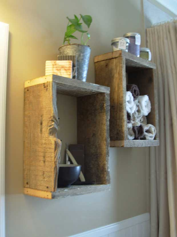 Wall Shelves Recycled From Shadow Boxes.