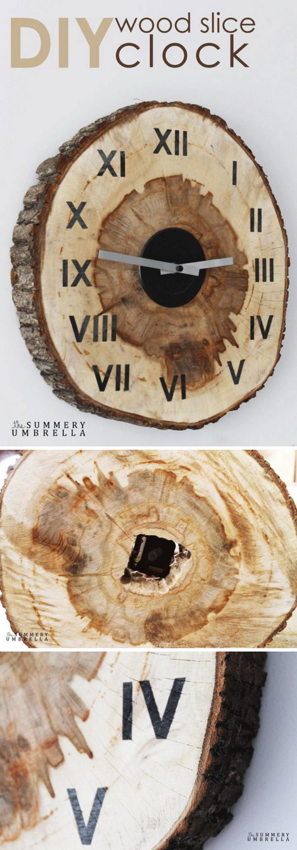 Wood Slice Clock.
