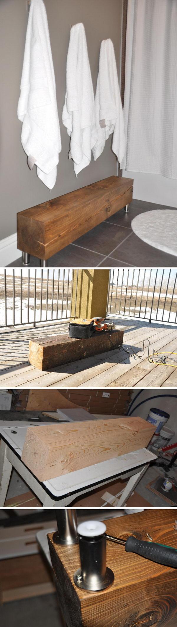 Rustic Modern Bench.